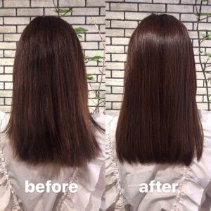 髪質改善の効果事例