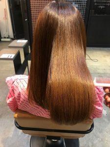 髪質改善の施術完成