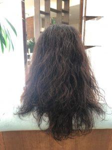 お客様施術例・髪質改善メニューをやる前の状態