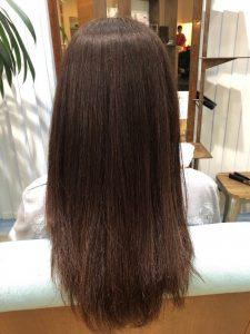 髪質改善メニュー当日の仕上がり